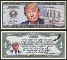 TRUMP ~ Presidential Million Note ~  Fantasy Note ~ Trump 45th President
