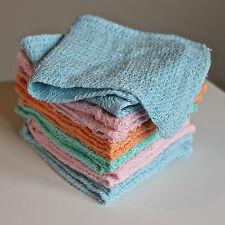 Pack of 12 Natural Cotton Face Flannels Bath Wash Cloth Cloths Towels Bargain
