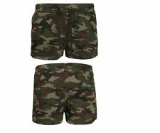 Camouflage Cotton Regular Size Shorts for Women
