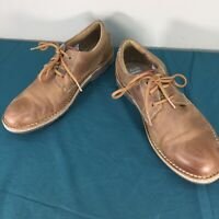 Clarks Edgewick Brown Leather Ortholite Mens Lace Up Oxford Shoes 12 M Used