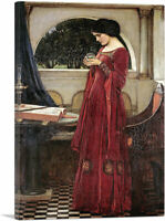 ARTCANVAS Crystal Ball - Without Skull Canvas Art Print John William Waterhouse