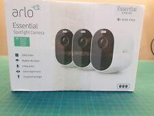 ARLO Essential Spotlight WLAN Caméra de Surveillance Extérieur, 3-er Set, I04479