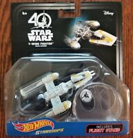 Disney Hot Wheels Star Wars Starships 40th Anniv. Y-Wing Fighter Gold Leader NEW