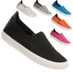 Ladies Elasticated Trainers Comfort Slip On Pumps Eweez Dino Fashion Shoes Size