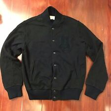 NEW DENIM & SUPPLY RALPH LAUREN BOMBER BASEBALL JACKET BLACK MEN SIZE SMALL S