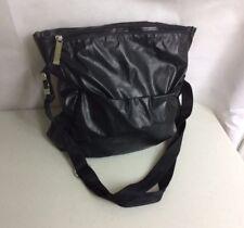 VIA SPIGA Technical Black Shoulder Bag Purse