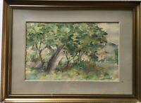 Aquarell Serbien Jefta Peric (1895-1967) Landschaft 33,5 x 45,5 cm
