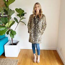 J. McLaughlin Faux Fur Leopard Coat, S