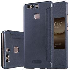 Premium Nillkin Smartcover negra para Huawei P9 Plus funda Protección