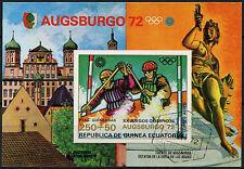 Guinea Ecuatorial Juegos Olímpicos de 1972, canoa Cto utilizado Imperf m/s #a 92635