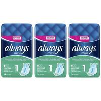 42 Always Maxi Normal Sanitary Pads w/ Wings, Leakage Barriers - Super Absorbent