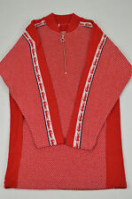 LACOSTE NWD WOMENS RED PURE WOOL SWEATER DRESS SIZE: 8 (40)