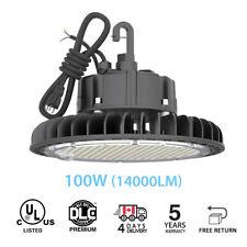 100W UFO LED High Bay Light Industrial Warehouse Factory UL DLC 4000K IP65