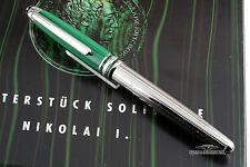Montblanc Solitaire Malachite Nikolai I Platinum Plated Rollerball Pen