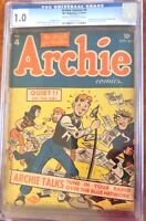 Archie Comics 4  Sept-Oct 1943 - CGC 1.0