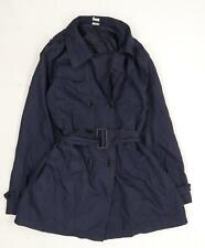 La Redoute Womens Blue  Softshell Trench Coat Cape Size 14