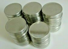 19 pcs clean empty round storage tin containers with slip on lids