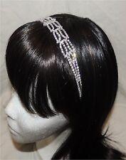 Ladies/Girl's Stretch Clear Rhinestone Crystal Hairband (NWT)