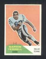 1960 Fleer #101 Marvin Terrell NM/NM+ Texans 107229