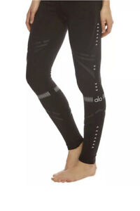 Alo Yoga Airbrush Black Chakra Leggings Size S Brand New  Rrp 138$