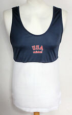 "VINTAGE ADIDAS TREFOIL USA BASKETBALL JERSEY SHIRT MENS MEDIUM 38-40"" RARE"