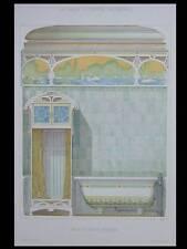 DECOR ART NOUVEAU, SALLE DE BAINS - 1900 - GRANDE LITHOGRAPHIE