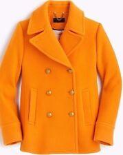 J Crew  Majesty Peacoat Sz 6 Marigold Yellow Gold F4923 $298 Jacket Coat