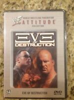 WWE-WWF-Eve of Destruction (DVD, 2002)NEW Authentic US Release RARE Out of Print