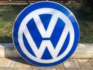 ORIGINAL VOLKSWAGEN VW SERVICE GARAGE DEALER VINTAGE NEON AUTO BUS VTG T1 T2