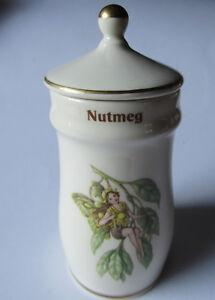 "Gresham 1989 THE FLOWER FAIRY SPICE JARS "" Nutmeg """