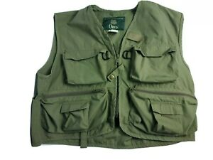 Orvis Men's Vest Size Med Fishing Cargo Hunting Sport Safari Field Outdoor Green