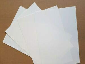Styrene Sheet, Card.WHITE. Single Sheet 305mm x 228mm. Please select thickness