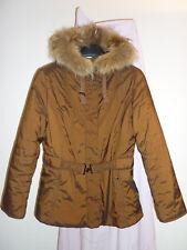 Bader -metall-braune taillierte Jacke Pelz-Kapuze Gr.40 – eine Blick-Fang