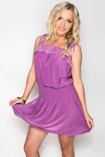Summer/Beach Regular Hand-wash Only Solid Dresses for Women