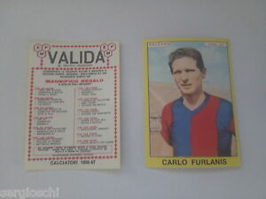FIGURINA CALCIATORI PANINI 1966 / 67 - BOLOGNA - CARLO FURLANIS  -NUOVA-VALIDA