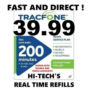 TRACFONE $39.99 DIRECT Refill 200 Minutes 🔥 GET IT TODAY 🔥