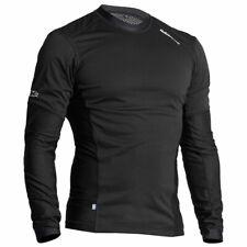 Halvarssons Windproof Motorcycle Motorbike Base Layer Mesh Sweater Black