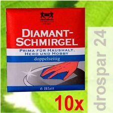 Herkules Diamant Schmirgel Herdplatten-Reiniger  10x 6 Blatt #GB