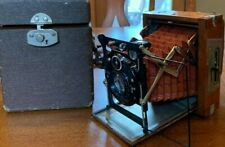 Rare 1920's Contessa Nettel Sonnet Tropical Teak Leather Camera Compur Shutter