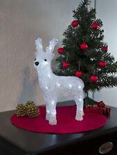 Battery LED Acrylic REINDEER - 24 LEDs - 32cm high - 3D Christmas Decoration