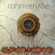 Whitesnake Guitar & Bass Tab from SELF-TITLED 1987 Lessons on Disc SERPENS ALBUS