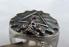 Illuminati ? Masonic ? . silver RING