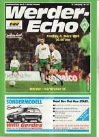 BL 92/93 SV Werder Bremen - Karlsruher SC, 05.03.1993