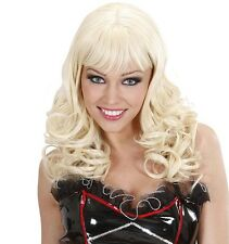 Ladies Long Blonde Sexy Wig Fringe Marilyn Deluxe Dream Hair Burlesque Fancy Dre