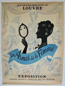 1940s vintage Tolmer French Paris beauty fashion display poster affiche Claude
