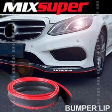 MIXSUPER Rubber Bumper Lip Splitter Chin Spoiler Trim EZ Protector RED for Ford