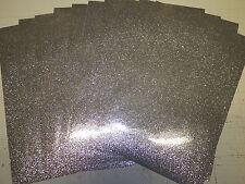 "Vinyl self adhesive silver glitter flake 8""x12""x5mil (10 sheets)"