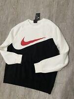 Nike Fleece Sweater Mens Sz Xl Sweatshirt Black Red White CJ4921 010