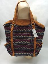 New Womens O'neill Indian XL Tribal Evening Purse Duffle Bag 100% Cotton