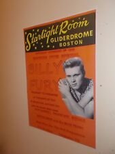 A3 SIZE BILLY FURY POSTER, Starlight Rooms, Boston, Nov 1966